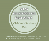 New Hampshire Gardens Teen's Business Fair! Come See Me!!!