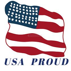 USA Proud Flag